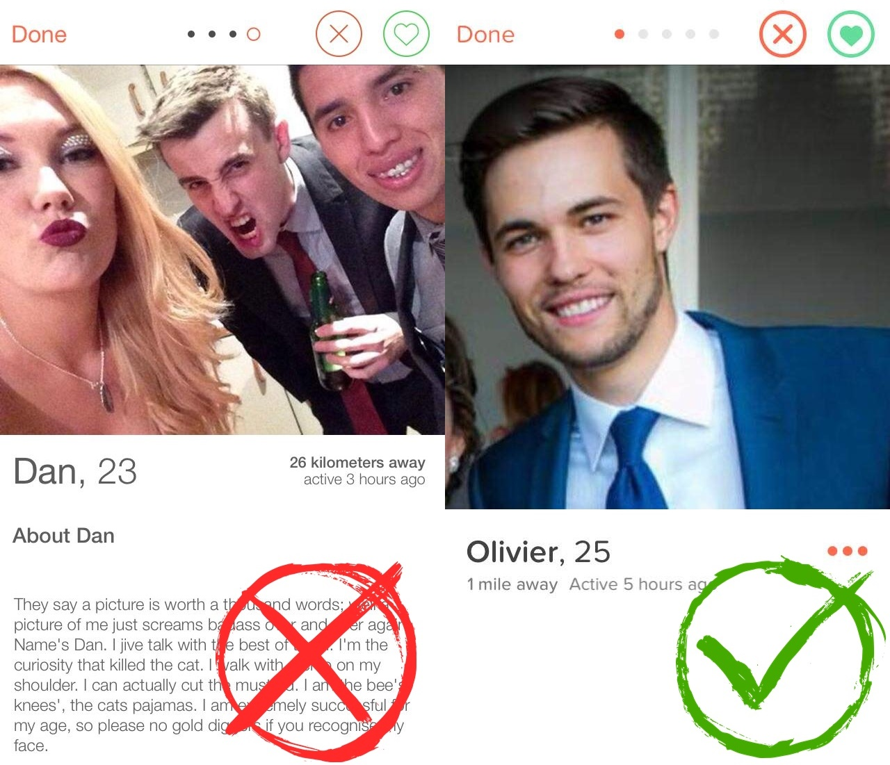 do&don't on tinder