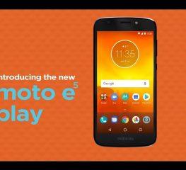 Motorola เตรียมเปิดตัว e5 Play 'มาพร้อม Android Go ในราคาสุดคุ้ม'