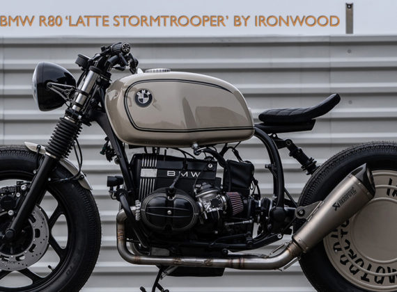 1985 BMW R80 'LATTE STORMTROOPER' โดย IRONWOOD