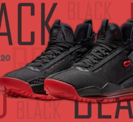 Jordan Proto Max 720 ในโทนสีดำและสีแดงที่แสดงความคลาสสิก