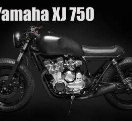 Custom Motorcycles   Yamaha XJ 750 คันนี้มีหัวใจที่ดำดึก