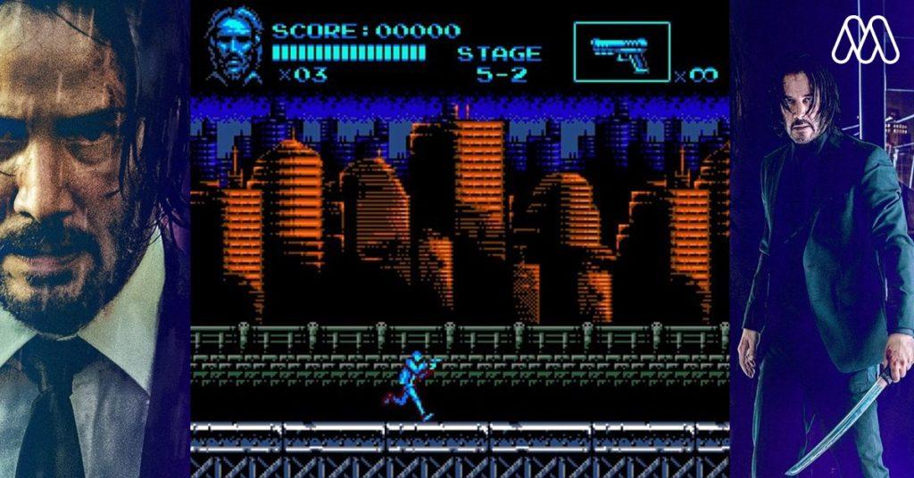 แฟนคลับเนรมิตภาพยนตร์ John Wick ออกมาในรูปแบบเกม 8-bit