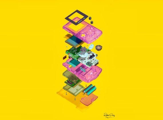 สุดเจ๋ง! ช่างภาพหนุ่มสร้างงานศิลปะจากการแบ่งเครื่องเล่นเกมเป็นส่วนๆ