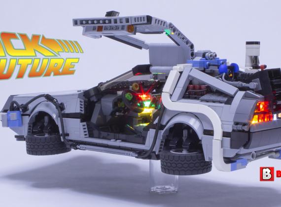 CUSTOM LEGO รถในตำนาน Delorean DMC-12