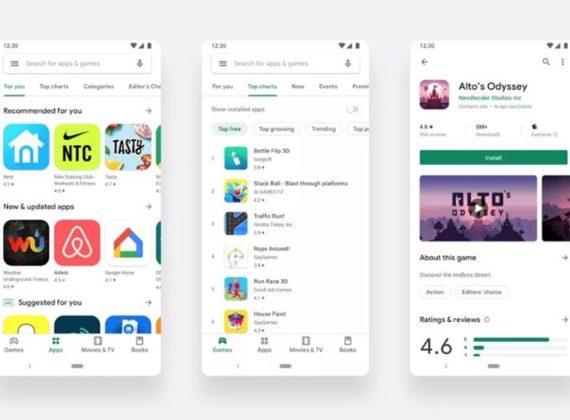 Google ยกเครื่อง Play Store ใหม่ดูเรียบง่ายขึ้นกว่าเดิม