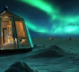 หลับภายใต้แสงอุษาของ Aurora Borealis ใน Igloos ขั้วโลกเหนือ ประสบการณ์ครั้งหนึ่งในชีวิต