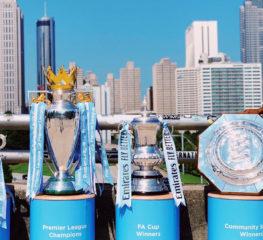 สโมสรฟุตบอลแมนเชสเตอร์ซิตี้พร้อมนำถ้วยรางวัลทั้ง 6 มาฉลองถึงประเทศไทยแล้ว ตามแคมเปญเชิญถ้วยแชมป์ไปทัวร์ทั่วโลก