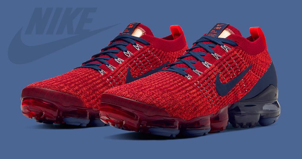 Nike Vapormax Flyknit 3 มาในธีม Noble Red และ Navy