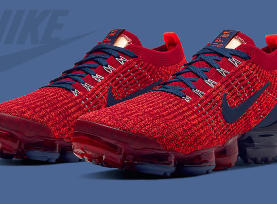 Nike Vapormax Flyknit 3 มาในธีม Noble Red และ Navy