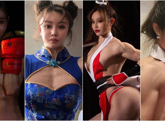 คอสเพลย์สายกล้าม แต่งเป็น Mai Shiranui และ Chun-Li