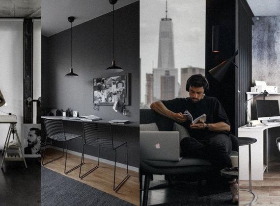 Home office | ไอเดียจัดโต๊ะทำงานที่บ้าน โดยเน้นธีมขาวดำ เมื่อเราต้อง Work From Home แบบมีสไตล์
