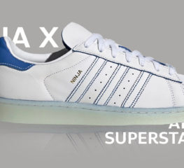 Ninja x adidas Superstar ธีมสีขาวที่คุ้นเคย ตัดกับสีฟ้าลายเซ็นต์ของนินจา
