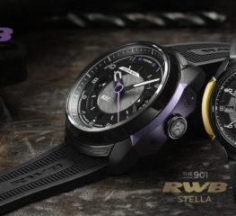 นาฬิกาคอลเลคชั่น 901 RWB และ Rotana ถูกสร้างมาจากโลหะรีไซเคิลของปอร์เช่ 911 ของ Akira Nakai สไตล์ที่ได้แรงบันดาลใจจากรถโดยตรง