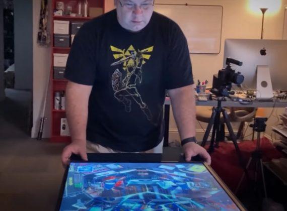 นักออกแบบสร้างโต๊ะสำหรับเล่น Pinball ด้วยจอยจาก Nintendo Switch