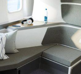 Zephyr Seat ดีไซน์ที่นั่งบนเครื่องบินชั้นประหยัด 2 ชั้น ความเป็นส่วนตัวสูง สำหรับป้องกันโควิดระบาด