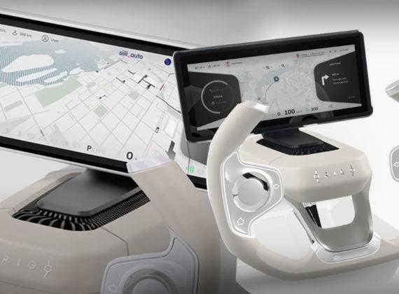 Origo Steering Wheel คอนเซ็ปต์พวงมาลัยสุดล้ำพร้อมการสั่งงานผ่านกระจกใสแบบสัมผัส