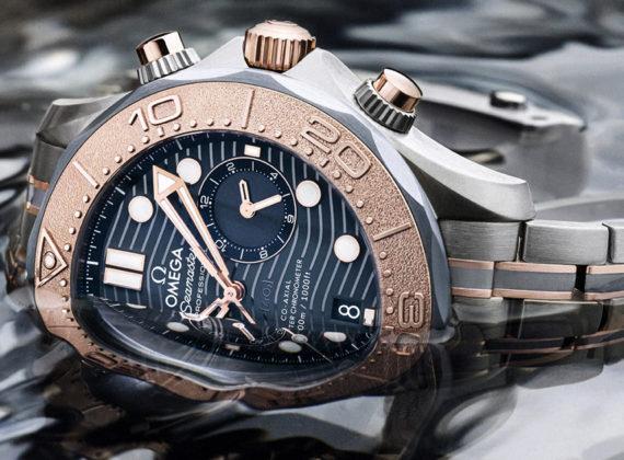 """""""เผยโฉมเรือนเวลา Seamaster Diver 300M Chronograph รุ่นใหม่จาก OMEGA: ส่วนผสมของทอง ไทเทเนียม และแทนทาลัม"""""""